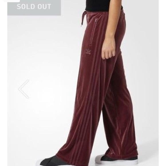 3564efe6930 adidas Pants | Maroon Velvet Vibes Sz M | Poshmark